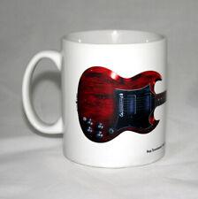 Guitar Mug. Pete Townshend's Gibson SG Special Guitar illustration.