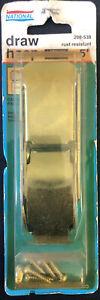 "Vintage National Hardware 5"" Steel Zinc Plated Draw Hasp V35 N208-538 New-USA"