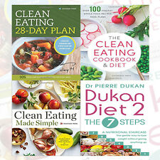 The Dukan Diet 2 &The Clean Eating Diet 4 Books Collection 9786544578243