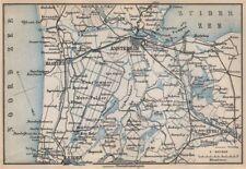 AMSTERDAM environs. Utrecht Leiden haarlem Zaandam. Netherlands kaart 1897 map