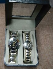 His and Her's Geneva Watches, Original Box