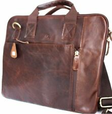 GENUINE oil Leather Bag FIT iPad Notebook Business man LAPTOP 13 handcrafted  12