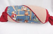 """Rockmount Ranchwear Sexy Cowgirl Pinup Bolster Pillow Red & Blue Decorative 21"""""""