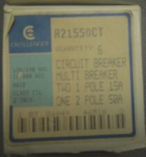 Challenger A21550Ct Circuit Breaker Two 1 Pole 15 Amp One 2 Pole 50 Amp
