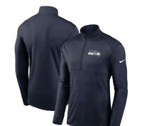 Seattle Seahawks Men's Nike Element Halfzip Size Medium Navy