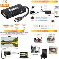 HDMI Adapter 4K High Resolution Multiport 4-1 Active HDTV HDMI to HDMI DVI VGA A