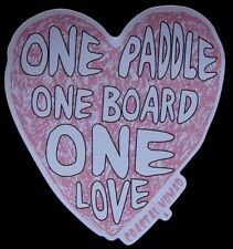 Coastal Nomad One Love heart UV sticker Standup Paddle SUP surf ocean Kayak yoga
