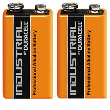 GENUINE 2X DURACELL 9V PP3 INDUSTRIAL PROCELL BATTERIES SMOKE ALARM LR22 E-BLOC