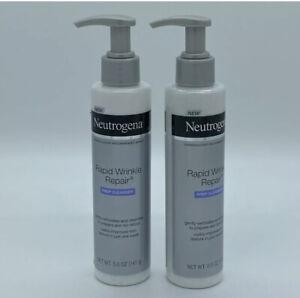 2 Pack Neutrogena Rapid Wrinkle Repair Anti-Wrinkle Facial Cleanser, 5 oz NEW
