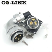 WS28 3Pin 50A Waterproof Power Connector,Aviation Right Angle Bulkhead Connector