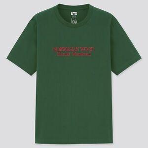 UNIQLO Haruki Murakami Radio NORWEGIAN WOOD embroidered UT Graphic T-Shirt M NWT