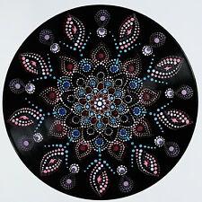 disc-mandala 8 / vinyl record mandala art handmade painting