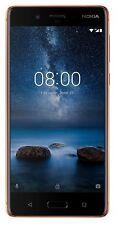"""Nokia 8 Dual Sim Polished Copper 64GB 5.3"""" Smartphone RAM 4GB Unlocked 4G LTE"""