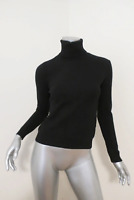 Ralph Lauren Black Label Cashmere Turtleneck Sweater Black Size Small Rib-Trim
