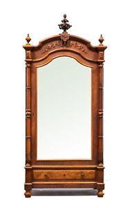 French Antique Renaissance Single Door Armoire Cabinet
