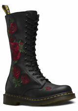 "Flat (less than 0.5"") Block Lace Up Floral Boots for Women"