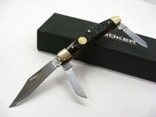 Boker Black Jigged Bone Medium Stockman 3 Blade Folding Pocket Knife 110728