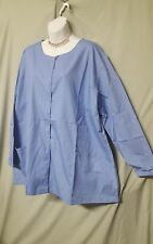 WOMENS 5X BLUE SCRUB LONG SLEEVE JACKET  NEW WITHOUT TAGS