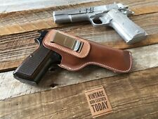 Vintage Alfonsos Brown Leather IWB SOB Holster for Colt 1911 5 Browning Hi Power