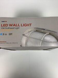 LEONLITE LED Bulkhead Light, 10W(60W Eqv.) High Brightness Waterproof Wall Light