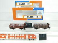 BJ16-0,5# 2x Bilger (Roco) H0/DC Güterwagen/Klappdeckelwagen gesupert DRG NEM