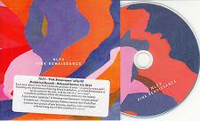 NLF3 Pink Renaissance 2014 UK 9-track promo CD + postcard & press release