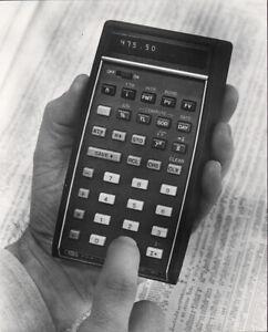HEWLETT PACKAGRD HP-80 CALCULATOR * COMPUTER PRESS PHOTO 1970ies