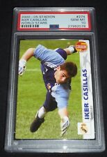 2001 Czech Stadion Iker Casillas Rookie Soccer Card PSA 10 Gem Mint POP 1  Rare!