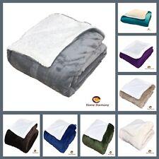 Teddy Bear Sherpa Throws Blanket Double Sofa Bed Size Large Soft Fleece Flannel