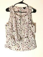 Ann Taylor Women's Top Size 10 Multicolor Sleeveless Casual Office Event Wear