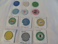 LOT OF 12 REAL CASINO CHIPS FROM MY PERSONAL COLLECTION; LOT # 35