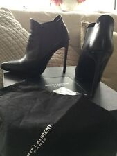 St Laurent Boots size 37 black calf leather. Boxed with dust bag .