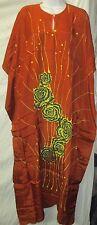 Beautiful Batik  Caftan Kaftan hand drawn fuji rayon long dress