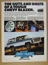 1980 Chevrolet Chevy Blazer blue & white truck photo vintage print Ad