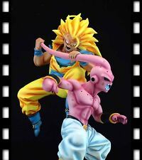 "Dragonball Kai 12"" Goku 3 Vs Ultimate Buu Battle Resin Statue Diorama NEW DJCA"