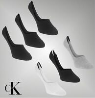 3 Pack Mens Designer Calvin Klein Stretch Invisible Socks Size 7-11