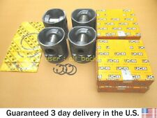 JCB BACKHOE - GENUINE JCB PISTON KIT 444 ENG. NAT ASP, 4 PC (PART NO. 320/09210)