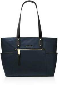 Michael Kors Large Top Zip Poly Tote in Admiral Blue.