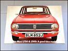 1972 Austin Maxi 1750 1500 12-page Vintage Car Sales Brochure Catalog