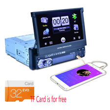 New listing 7� Bluetooth 1Din Hd Car Stereo Radio Mp5 Mp3 Player Gps Nav Retractable Tf Card