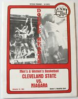 1980-81 CSU vs. Niagara College Basketball Program Cleveland State University