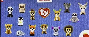 2021 McDONALD'S Ty Beanie Boos Baby Babies HAPPY MEAL TOYS COMPLETE SET #1-#14 N