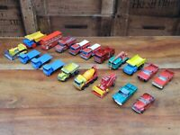 Bundle of 19 Vintage Matchbox Lesney Die Cast Commercial Vehicles - Job Lot