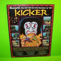 Kicker Arcade FLYER Original Konami 1985 Video Game Artwork Sheet Martial Arts