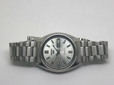 "Vintage SEIKO 5 Automatic Mens Watch 7009 469r Grey Dial ""Nice"" Free Shipping"