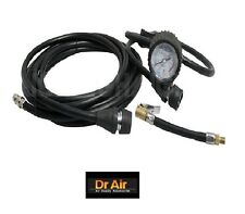 Air Compressor 8m Rubber Air Hose, Gauge, Screw On & Quick Connectors Fittings