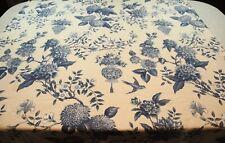 FLAWS Williamsburg Waverly Curtain Panel Lightfoot House Blue Floral Bird 88x48