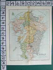 1913 JAPAN GIAPPONESE CARTA TURISTICA ~ Kyushu ~ chikugo buzen Nagasaki
