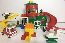 Lego DUPLO 2811 Rescue Station FIRE Police VINTAGE 1999 Lights & Sounds - RARE!!