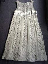 Nuevo Catherine Malandrino Organza de Seda una línea vestido Talla I44 UK12 US8
